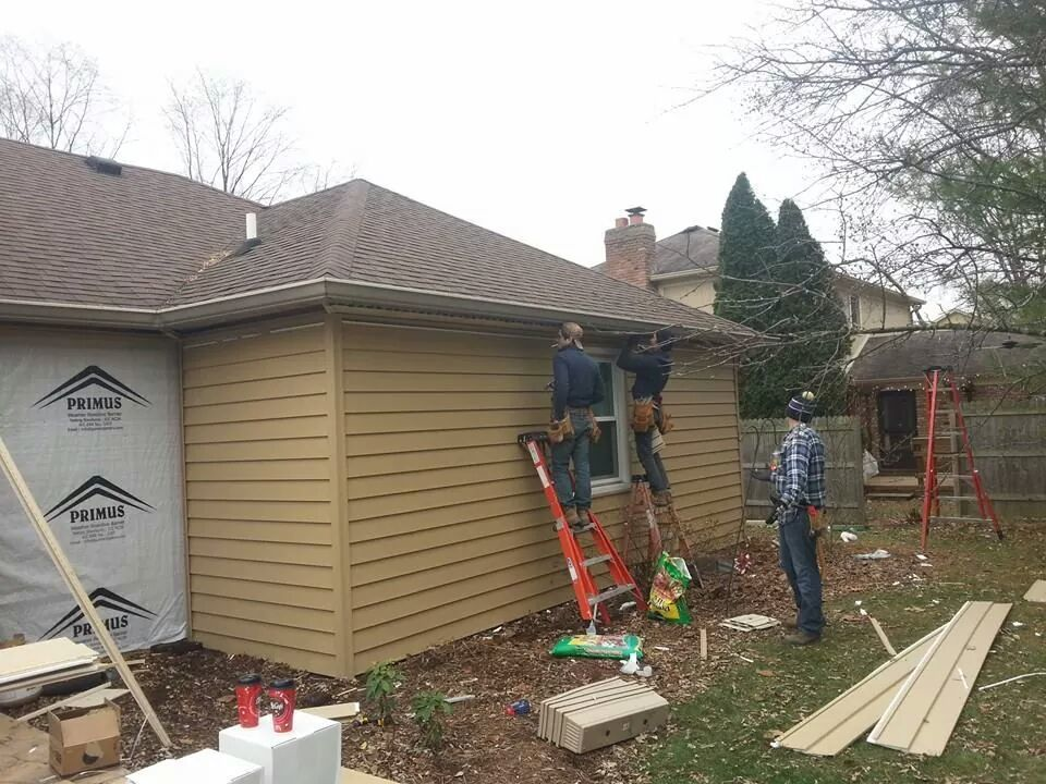 Guttering indianapolis for Exterior home improvement indianapolis