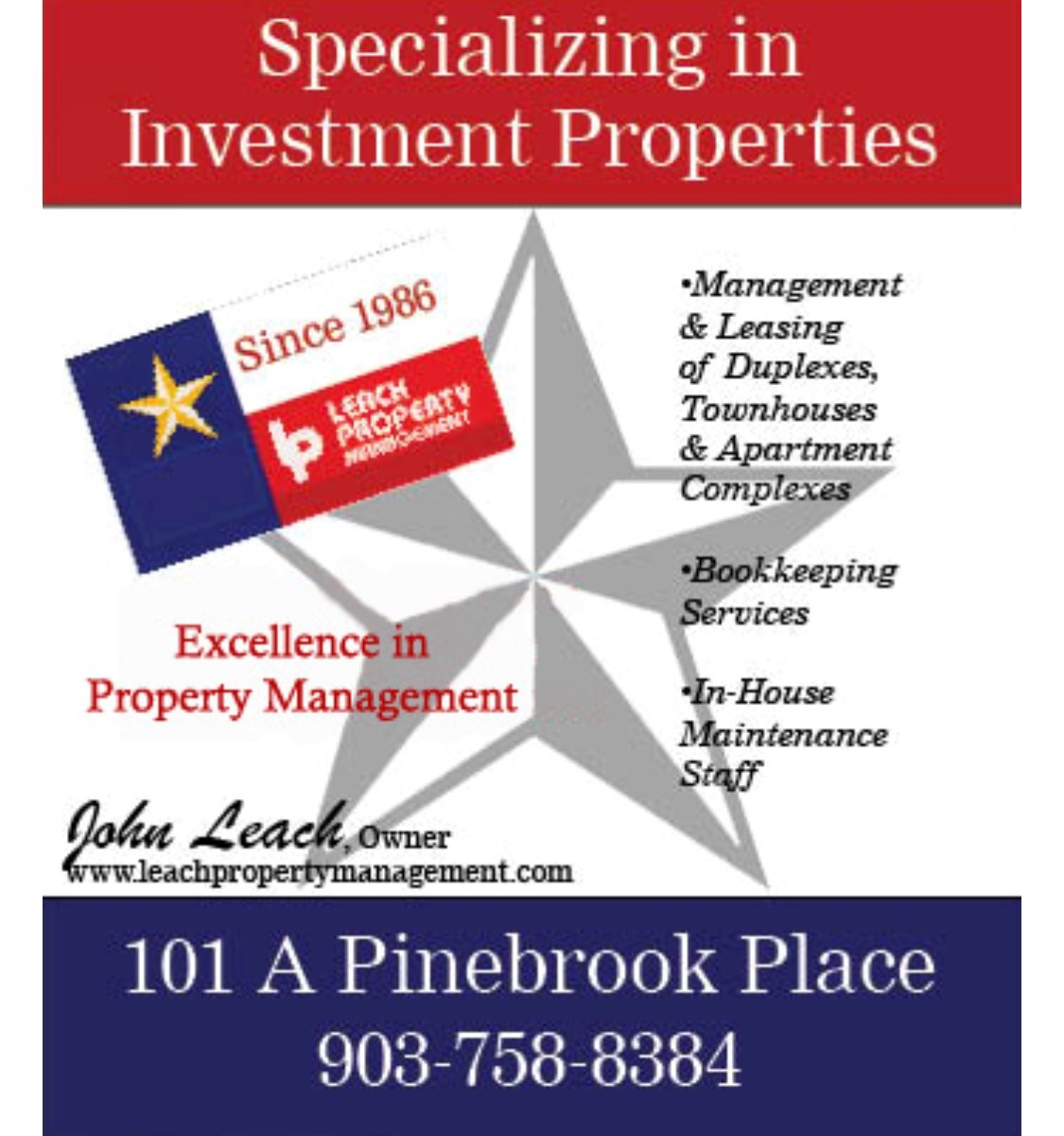 Leach Property Management In Longview Tx 75601