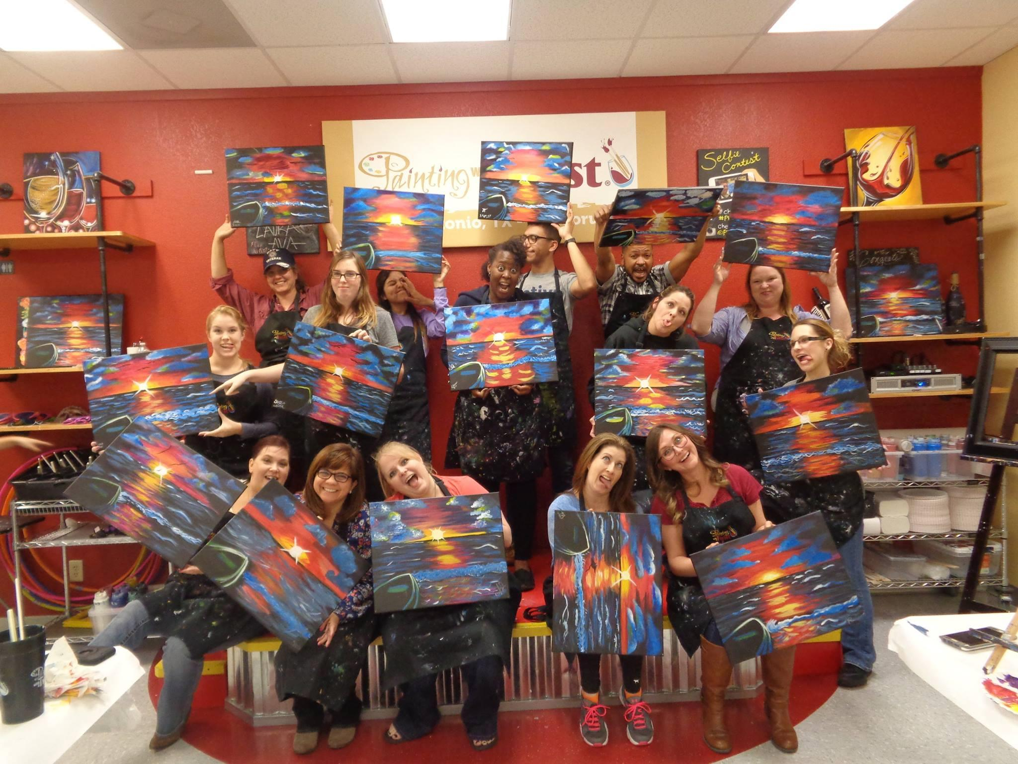 Painting with a twist coupons near me in live oak 8coupons for Wine and paint san antonio
