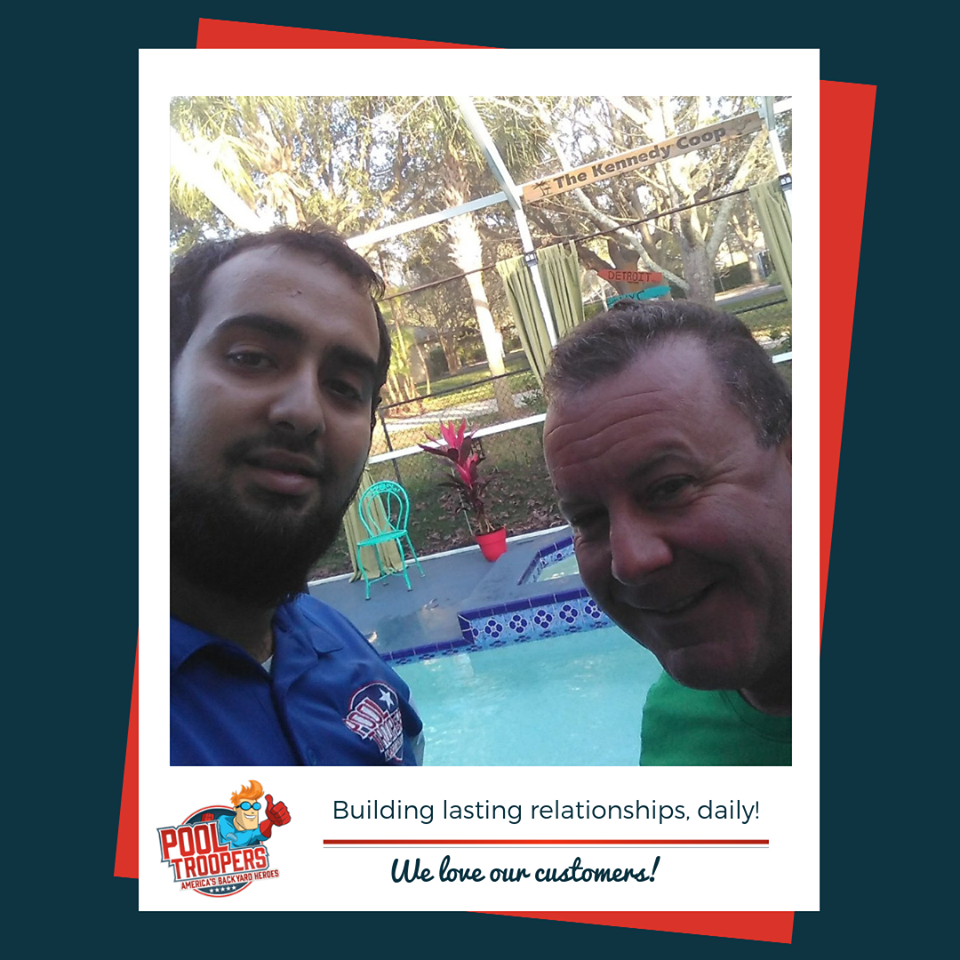 Pool Troopers Technician Selfie with Customer