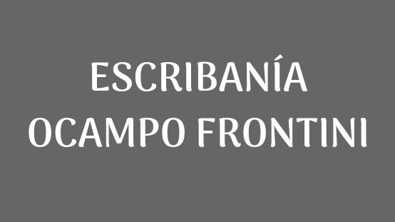 ESCRIBANIA OCAMPO FRONTINI