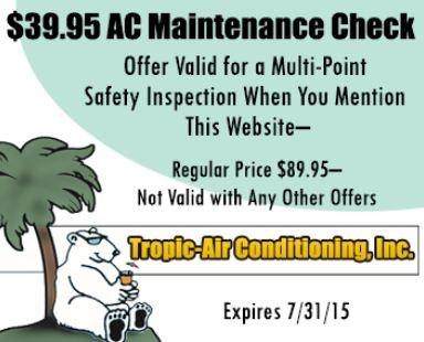Tropic Air Conditioning Inc Sarasota Florida Fl