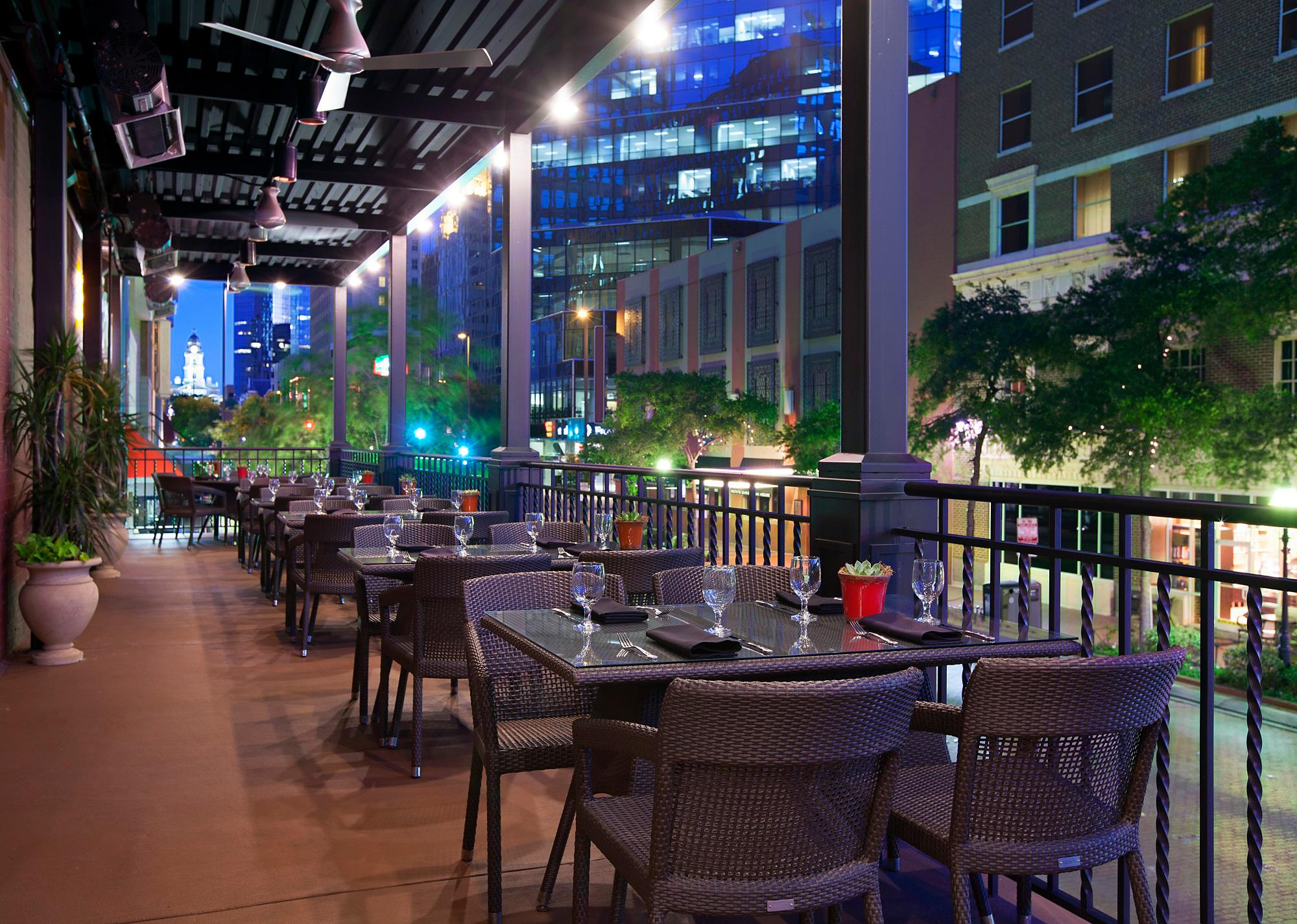 Del Frisco's Double Eagle Steakhouse Fort Worth Patio private dining room