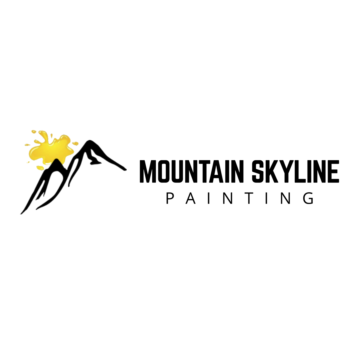 Mountain Skyline Painting