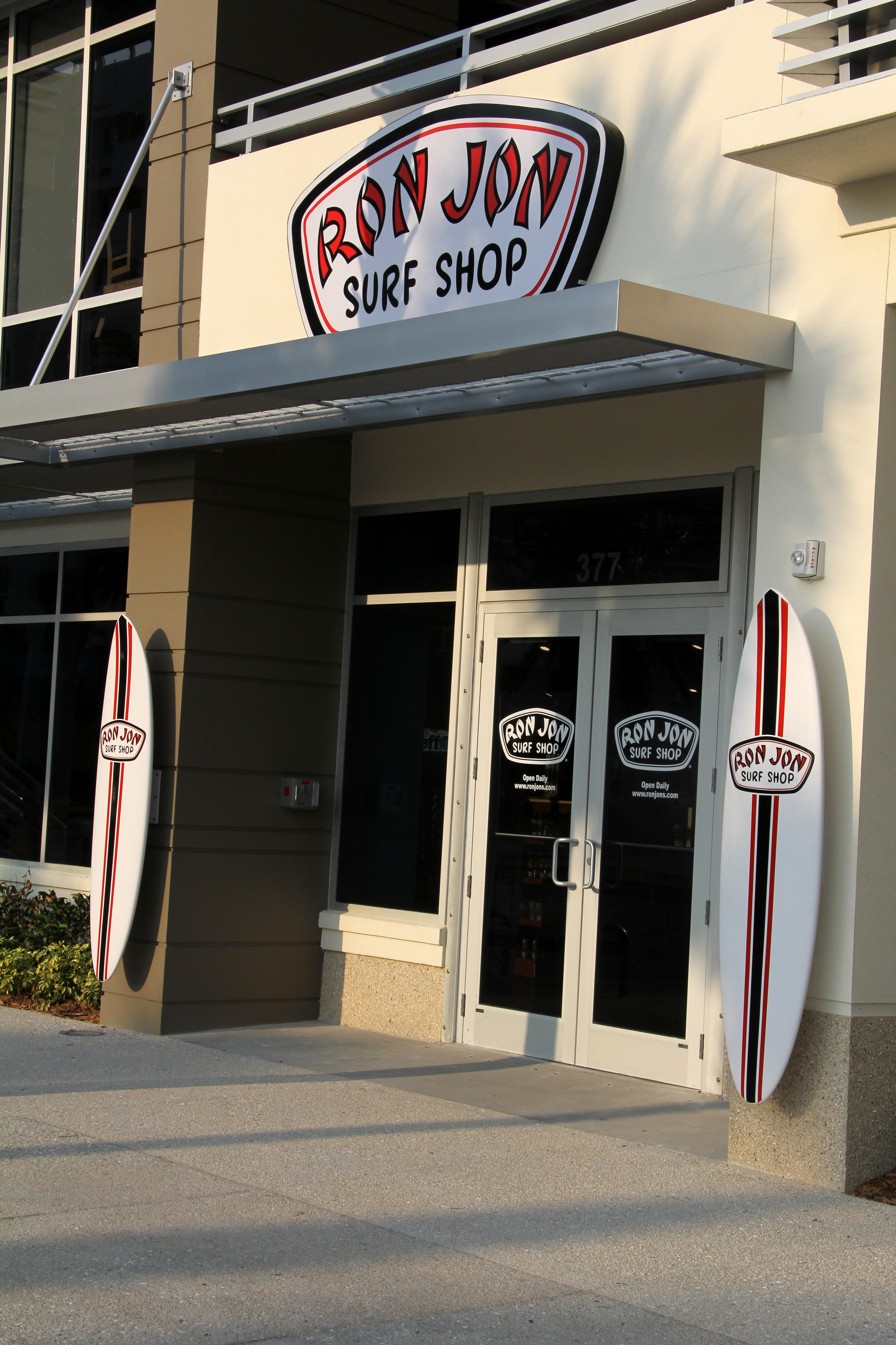 Ron Jon Surf Shop is now in Clearwater Beach! The store is located on the corner of Mandalay Avenue and the Causeway Boulevard roundabout, just steps away from the beautiful, white sand beach.