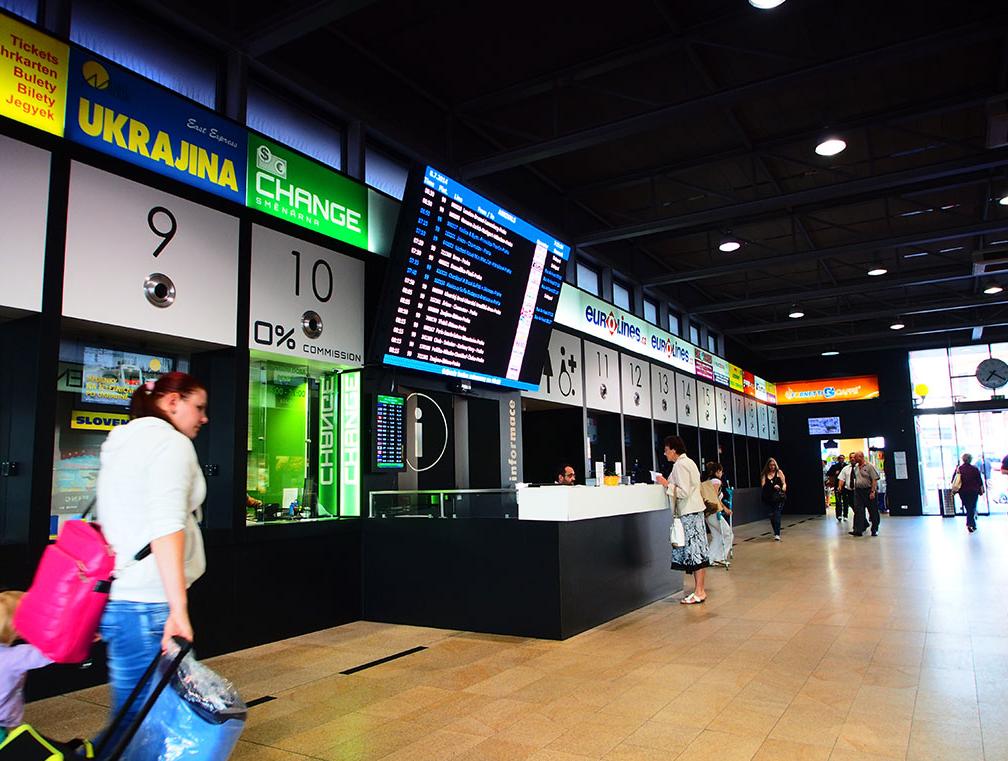 Směnárna autobusové nádraží Florenc