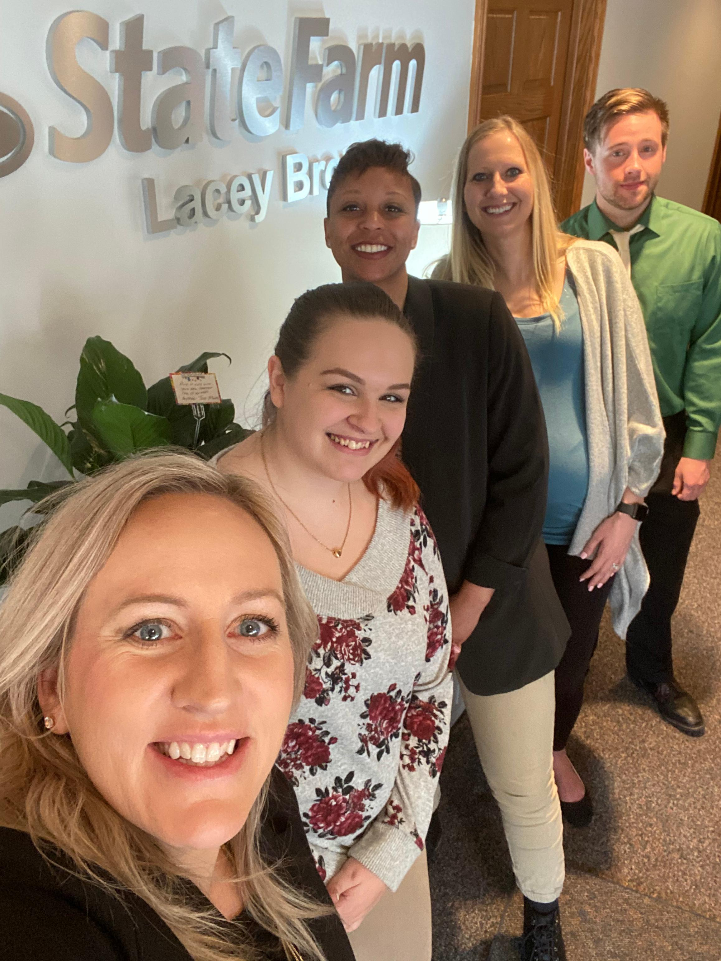 The Lacey Brown Team enjoying each other's company! Lacey Brown - State Farm Insurance Agent Ralston (402)779-8338
