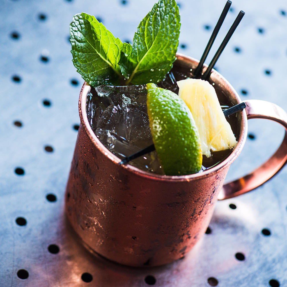 Enjoy one of three refreshing mules from our menu: Moscow, Grey Goose Strawberry and Hawaiian.