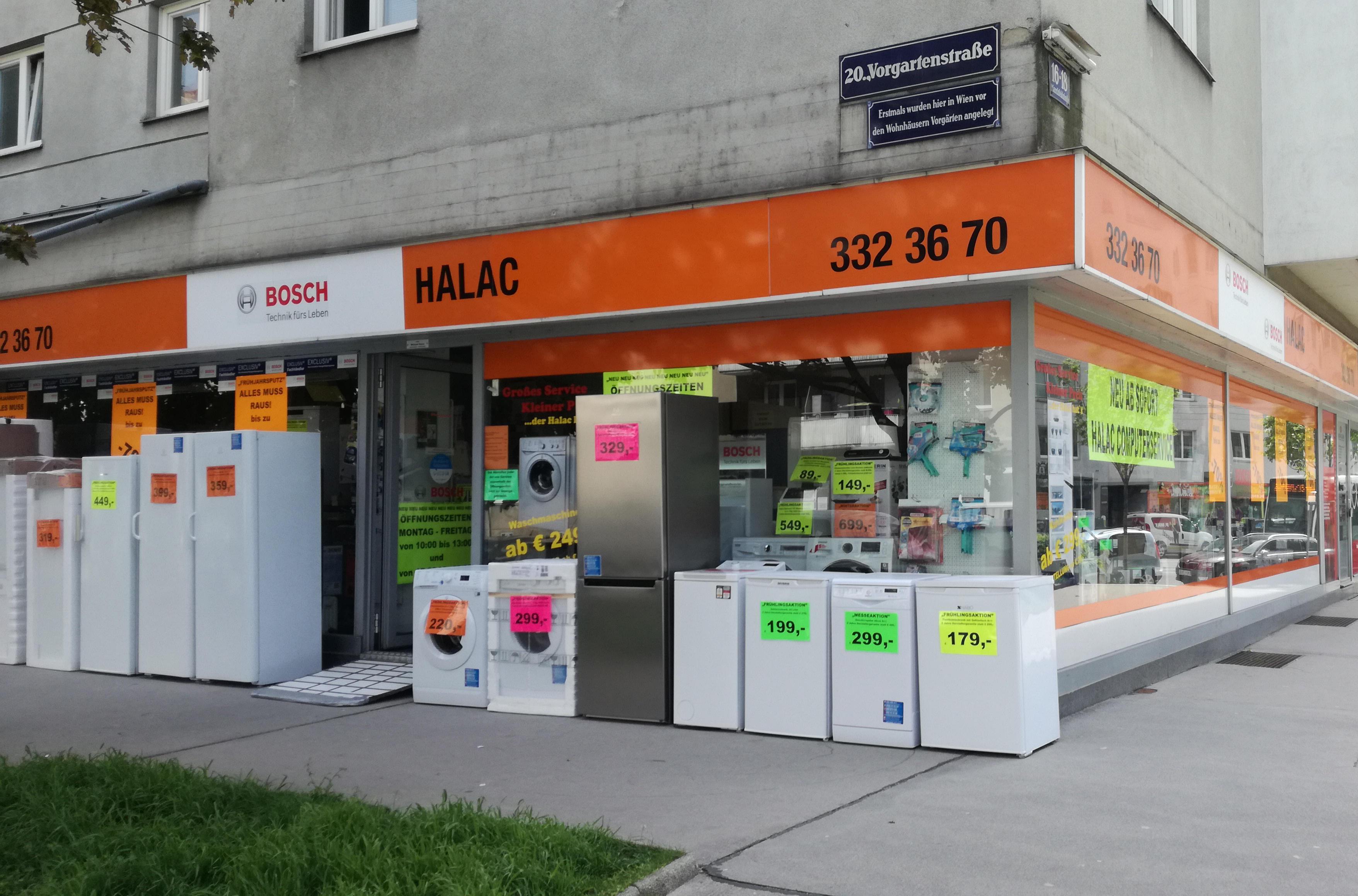 halac haushaltsger te computer service elektrizit t elektronik bedarfsartikel kleinhandel. Black Bedroom Furniture Sets. Home Design Ideas