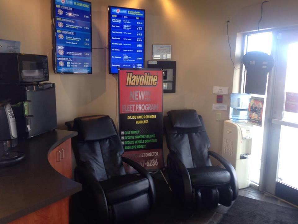 Try our new Massage Chairs! Take 5 Oil Change Charlottetown (902)201-0149
