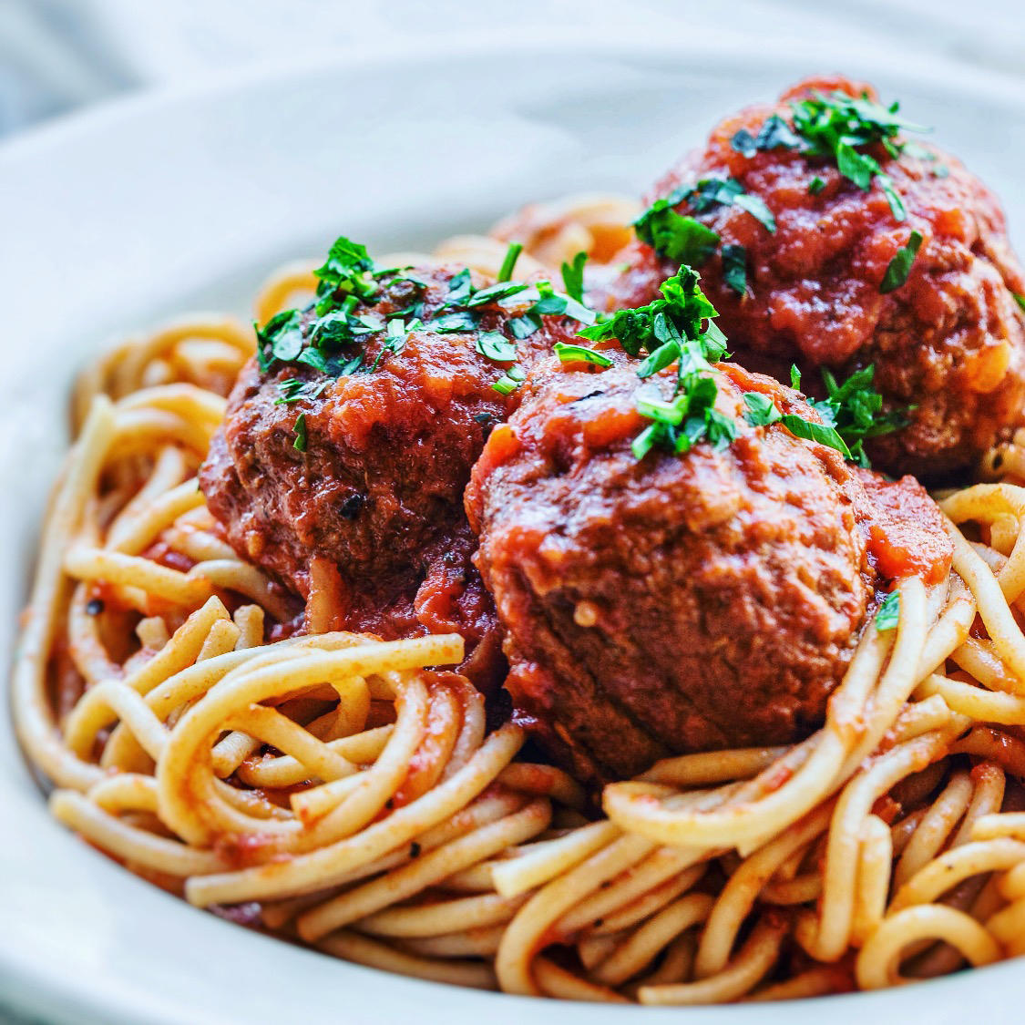 Whole Wheat Spaghetti with Meatballs