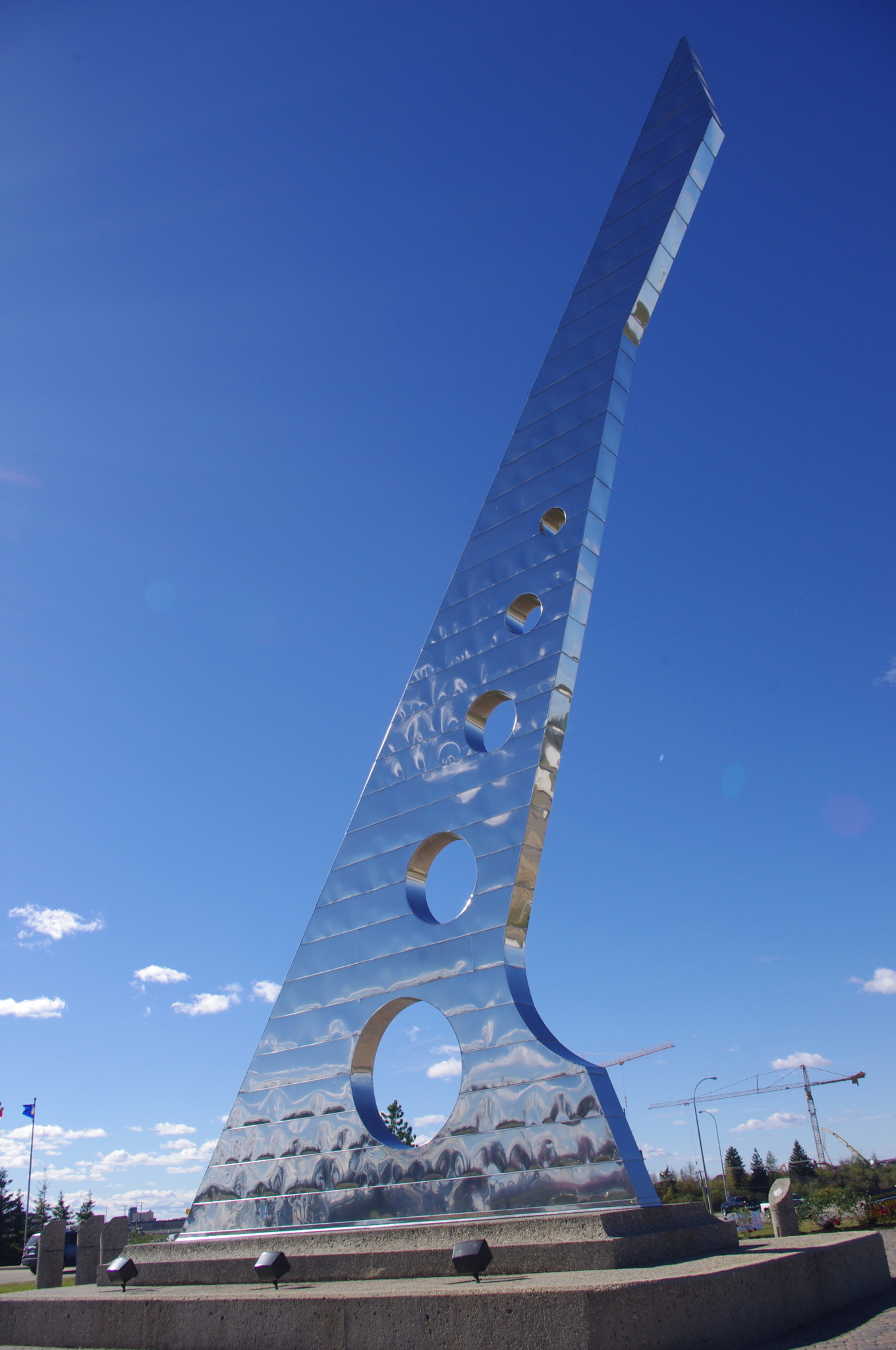 LSM-Lee's Sheet Metal Ltd in Grande Prairie: Sundial at Centre 2000 - LSM Custom Manufacturing and Fabrication.