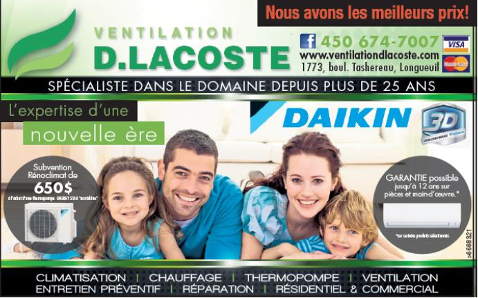 Ventilation D Lacoste Inc à Longueuil