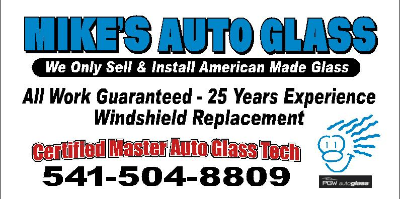 Auto Glass in OR Redmond 97756 Mike's Auto Glass LLC. 125 SE Evergreen Ave (541)526-8318