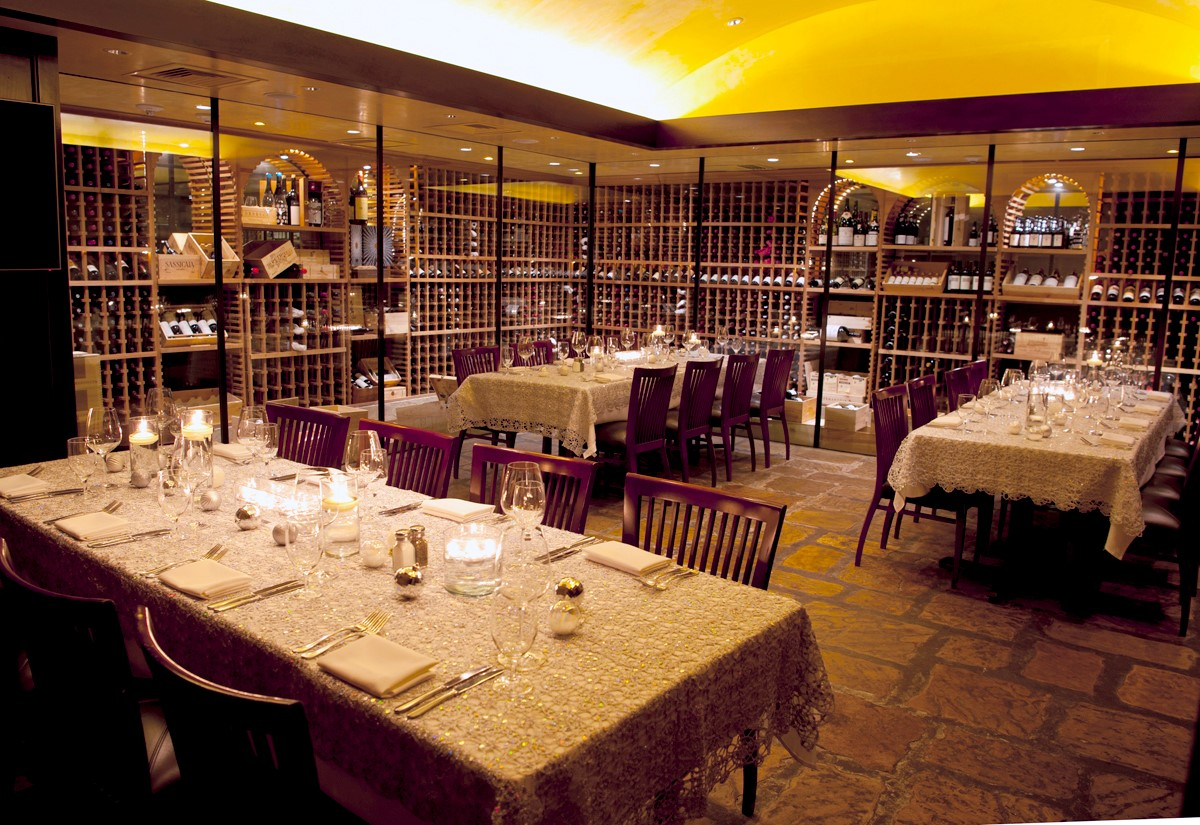 Del Frisco's Double Eagle Steakhouse Charlotte Cellar Two private dining room