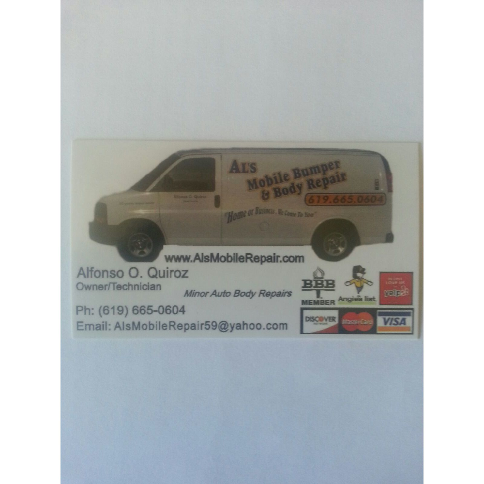 Al's Mobile Bumper & Body Repair