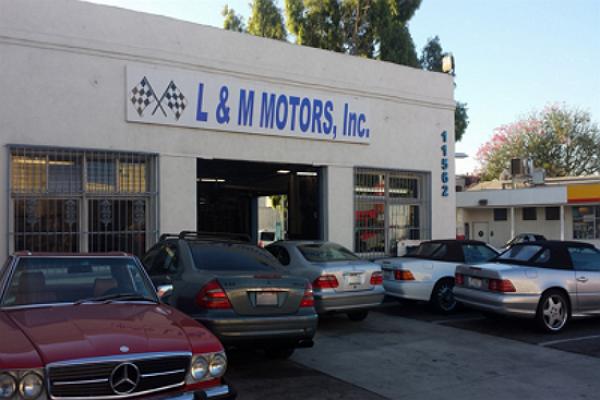 L m motors in los angeles 11562 santa monica blvd for Mercedes benz service santa monica