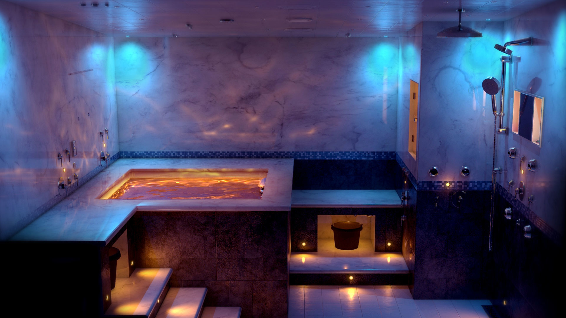 Mccarthy steam and sauna bath fort worth texas tx for Steam room design plans