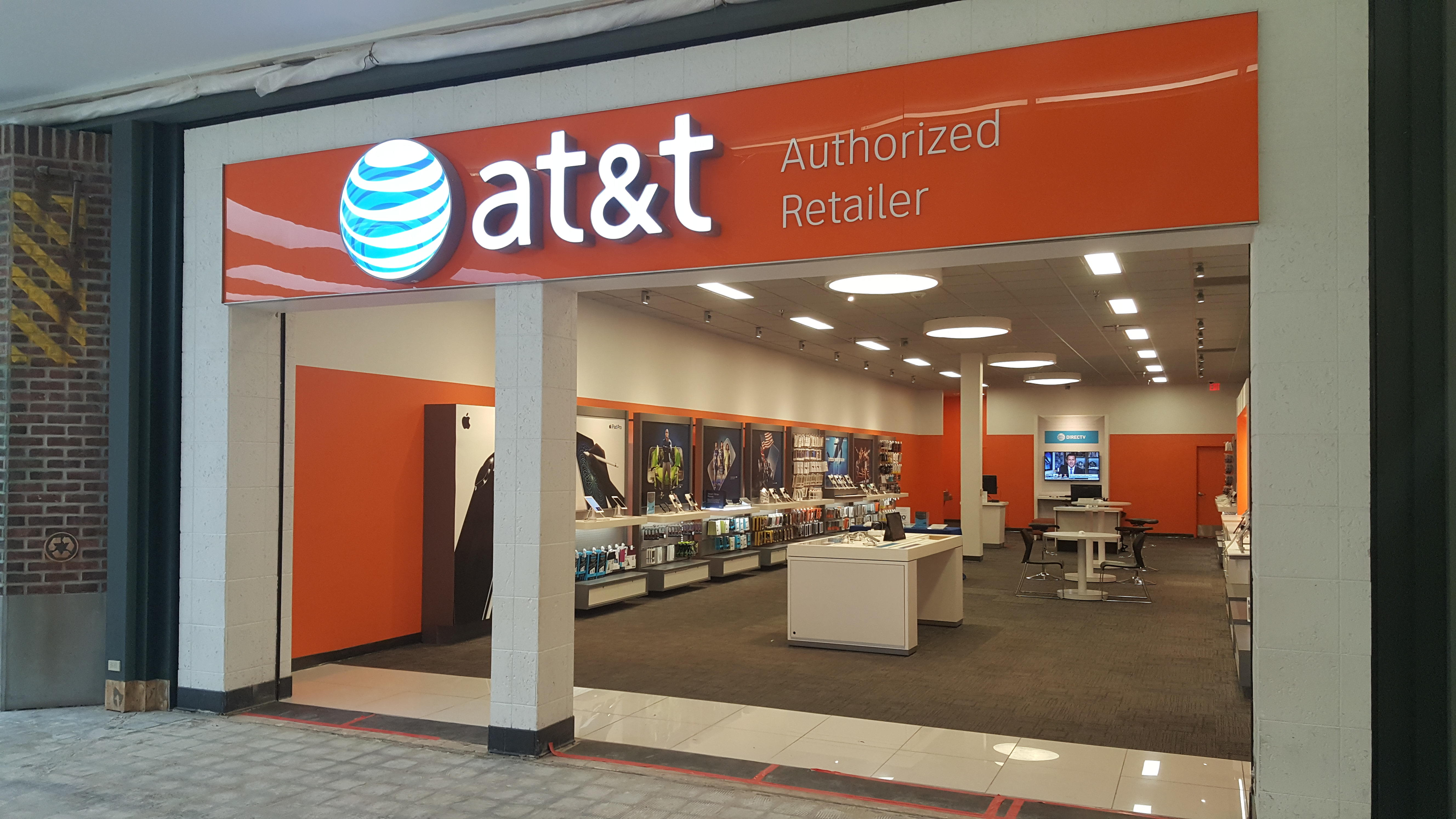 AT&T stores locations near me and store hours AT&T brand has in our database over stores or outlet stores. We provide AT&T stores and outlets locations by state, mall and shopping centers opening hours, store hours and driving directions to stores.