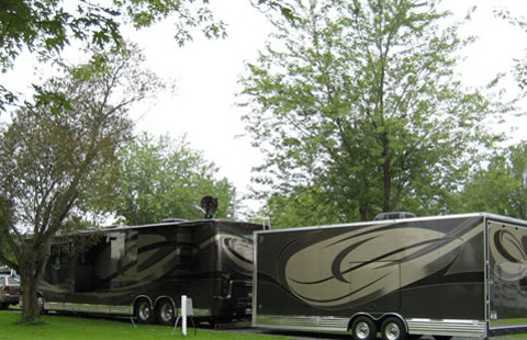 Montreal South KOA à St Philippe de Laprairie: Our long spacious pull through sites are BIG  RIG  Friendly and Easy In and Easy Out
