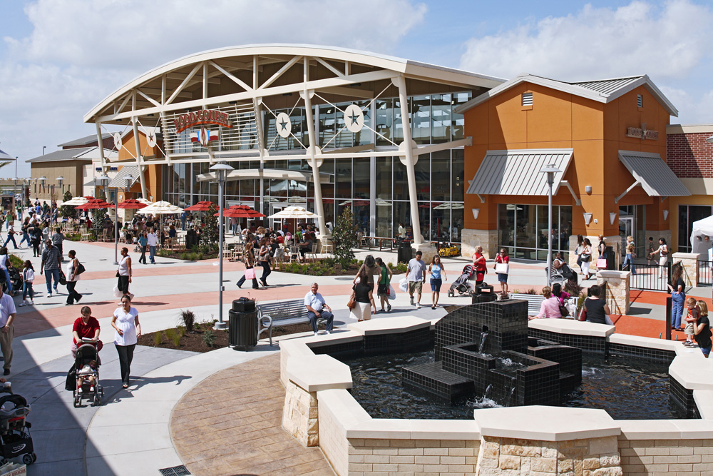 Houston Premium Outlets. Houston Premium Outlets in Cypress, Texas is a southwestern style, modern and fashion-forward outlet mall in the Cypress area, just outside of Houston.