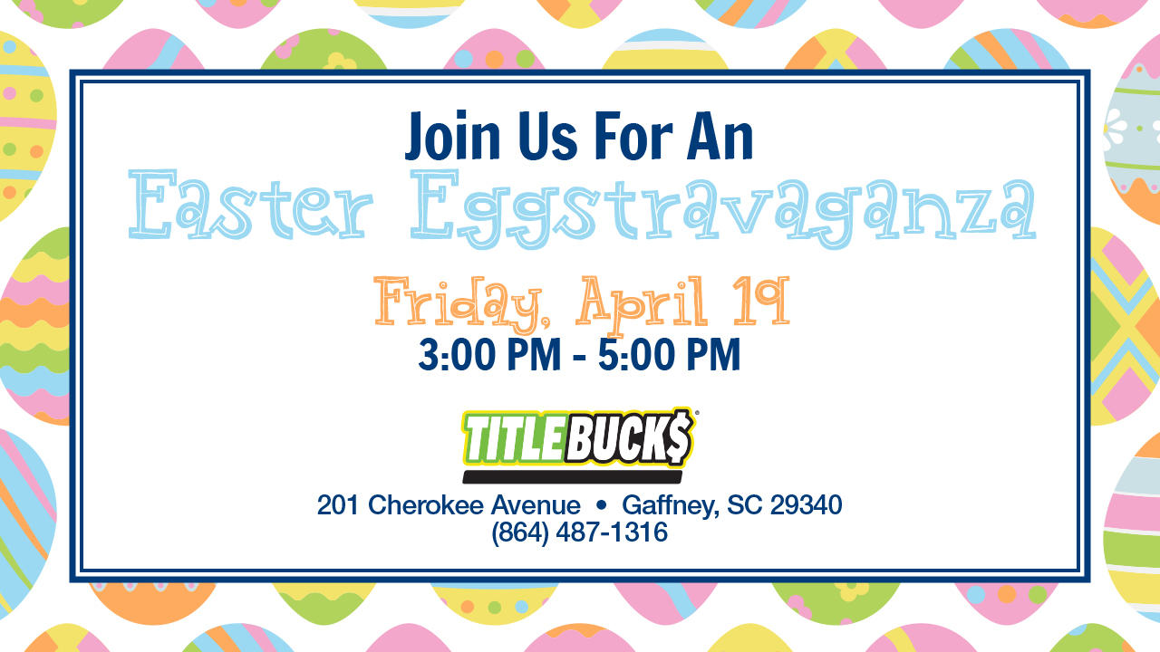 Easter Egg Hunt at TitleBucks Gaffney