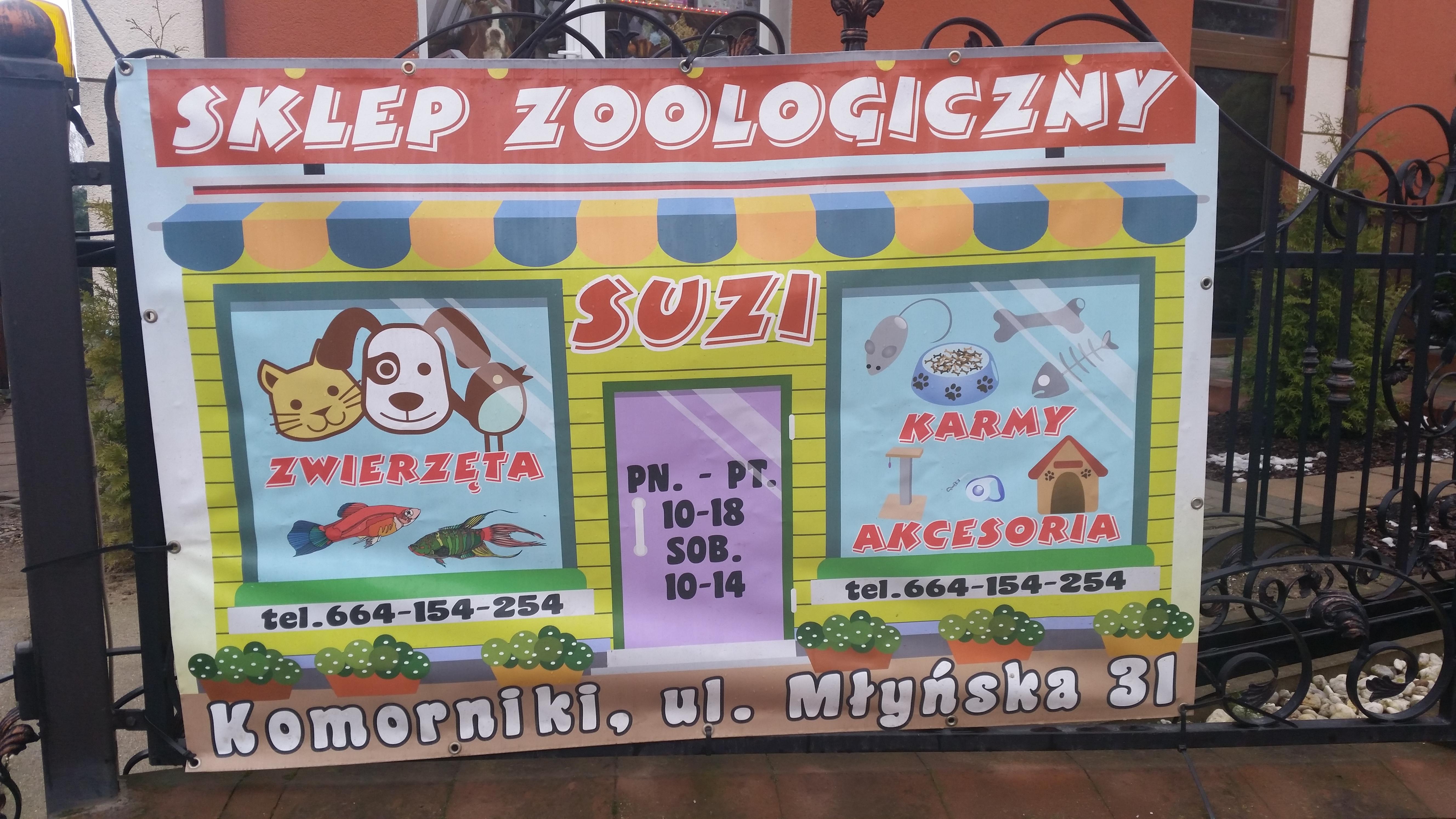 Sklep Zoologiczny, artykuły zoologiczne, karma dla zwierząt, artykuły dla zwierząt Komorniki