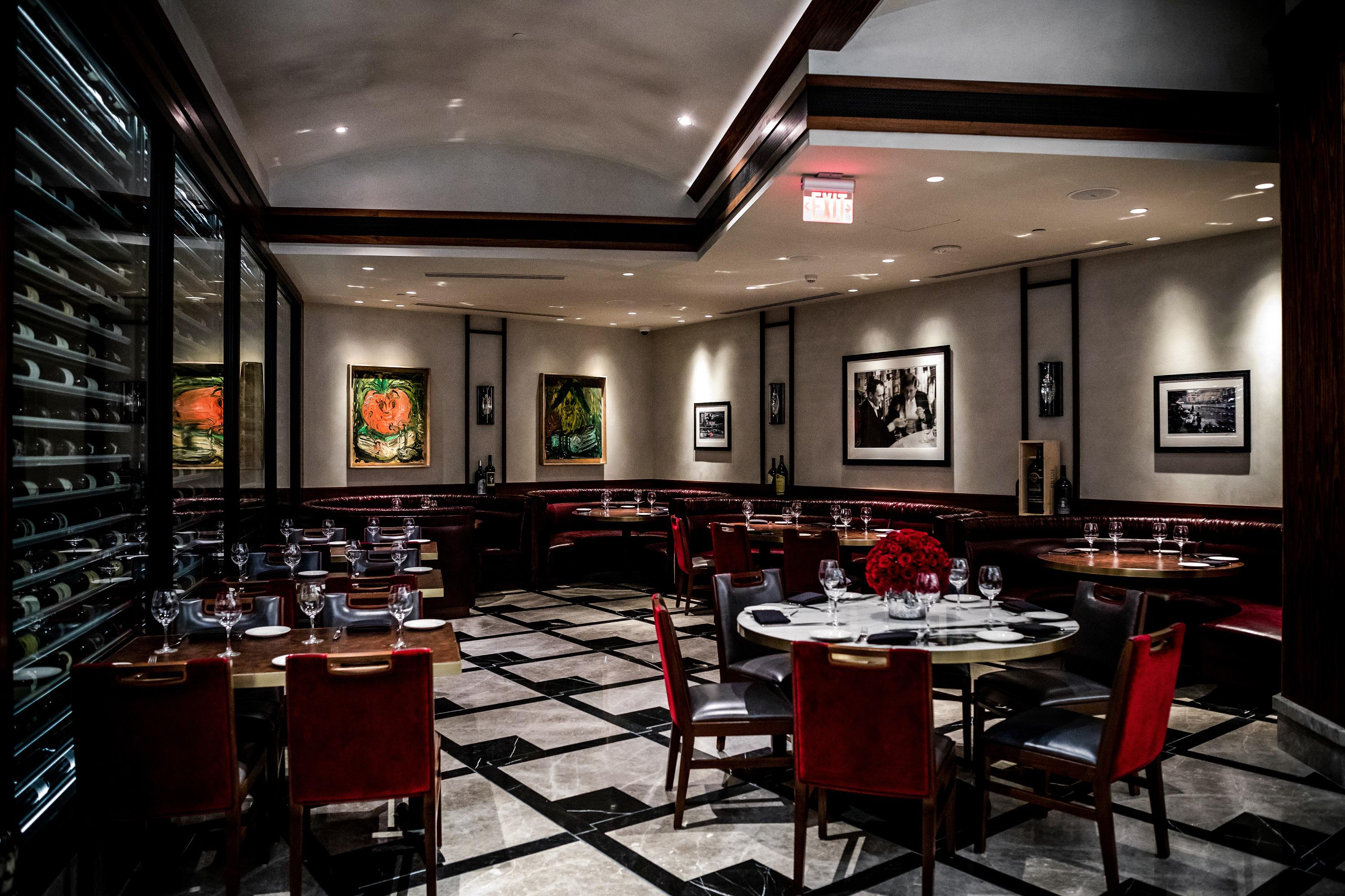 Del Frisco's Double Eagle Steakhouse Los Angeles Sinatra Room private dining room
