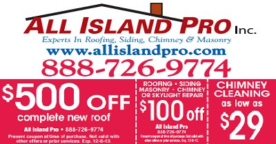 All Island Pro Roofing and Chimney Inc.