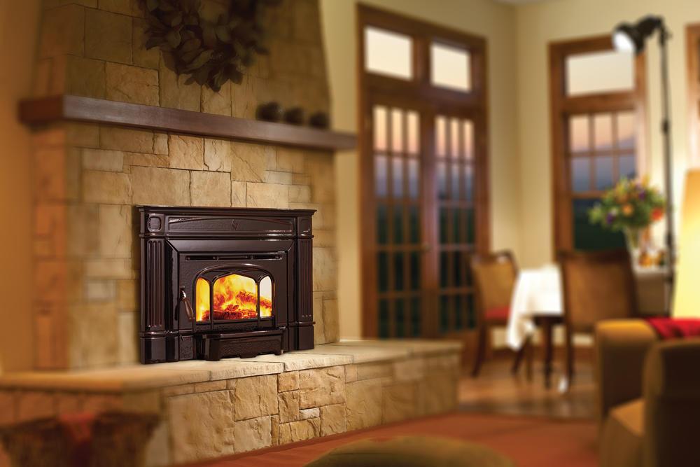 Fireplace Gallery in Edmonton: Hampton Cast Iron Wood Fireplace Insert - Hi200