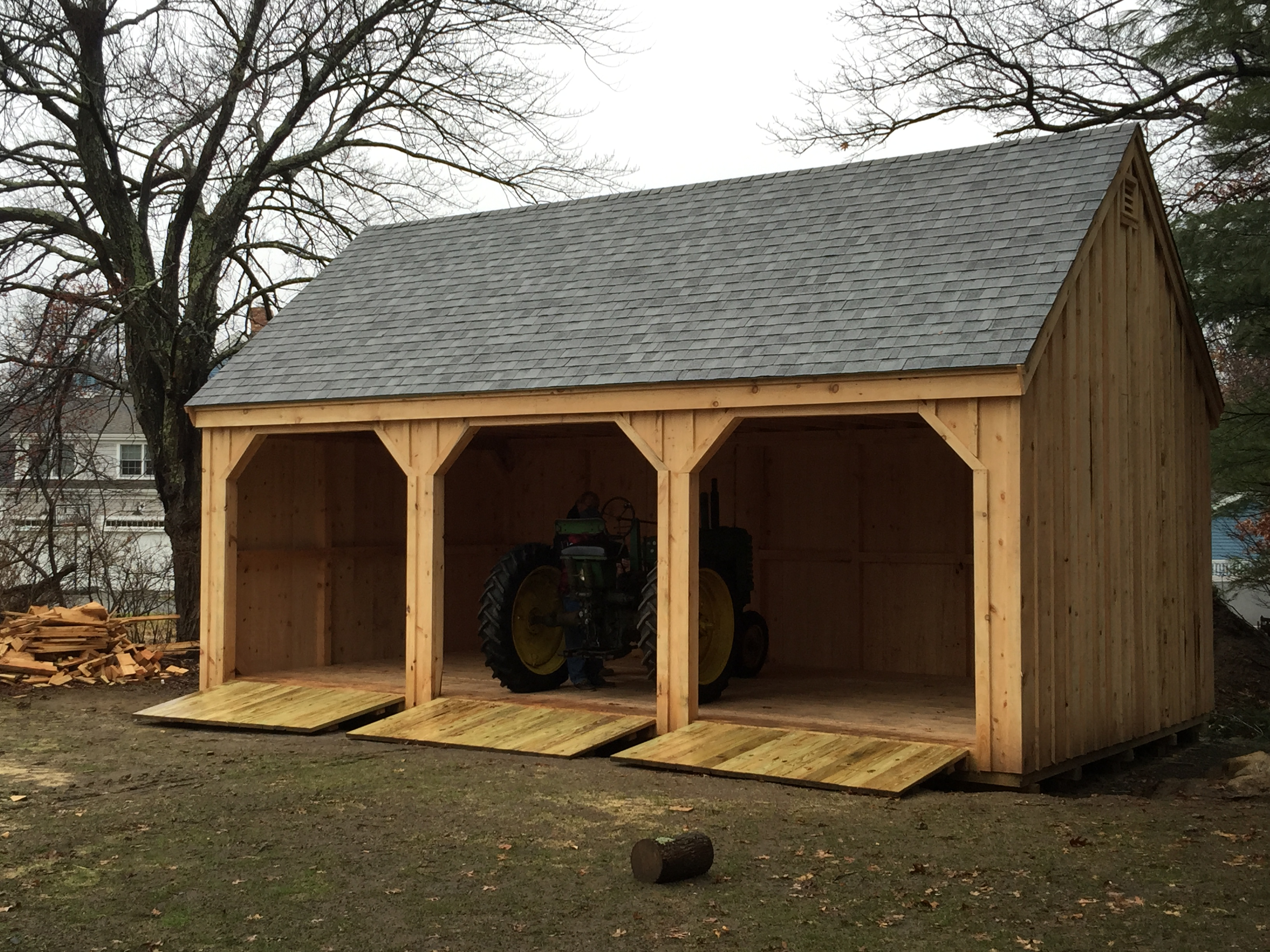 Ponderosa pines wood products kingston massachusetts ma for How to build a tractor shed