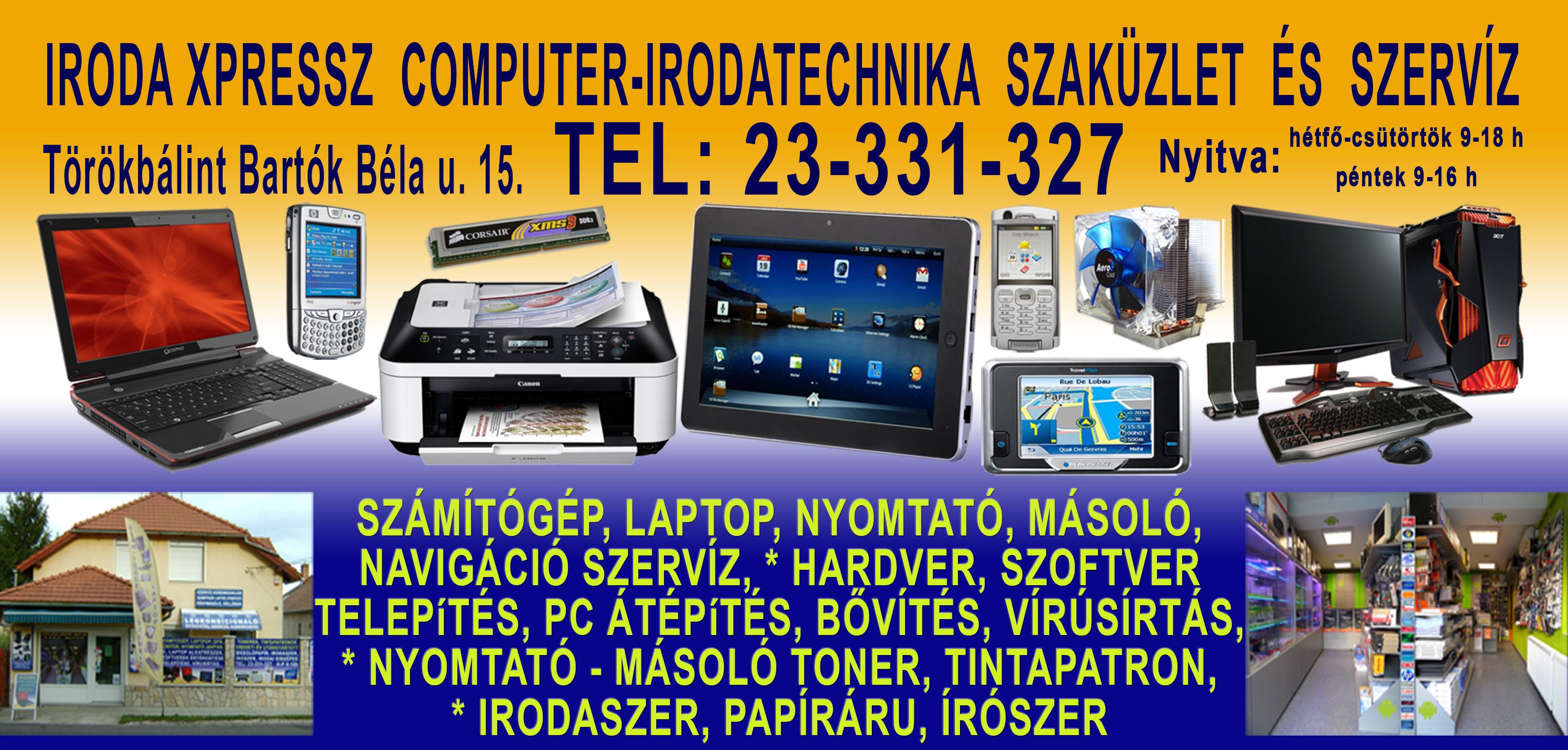 Iroda Xpressz Számítástechnikai Szaküzlet és Szerviz