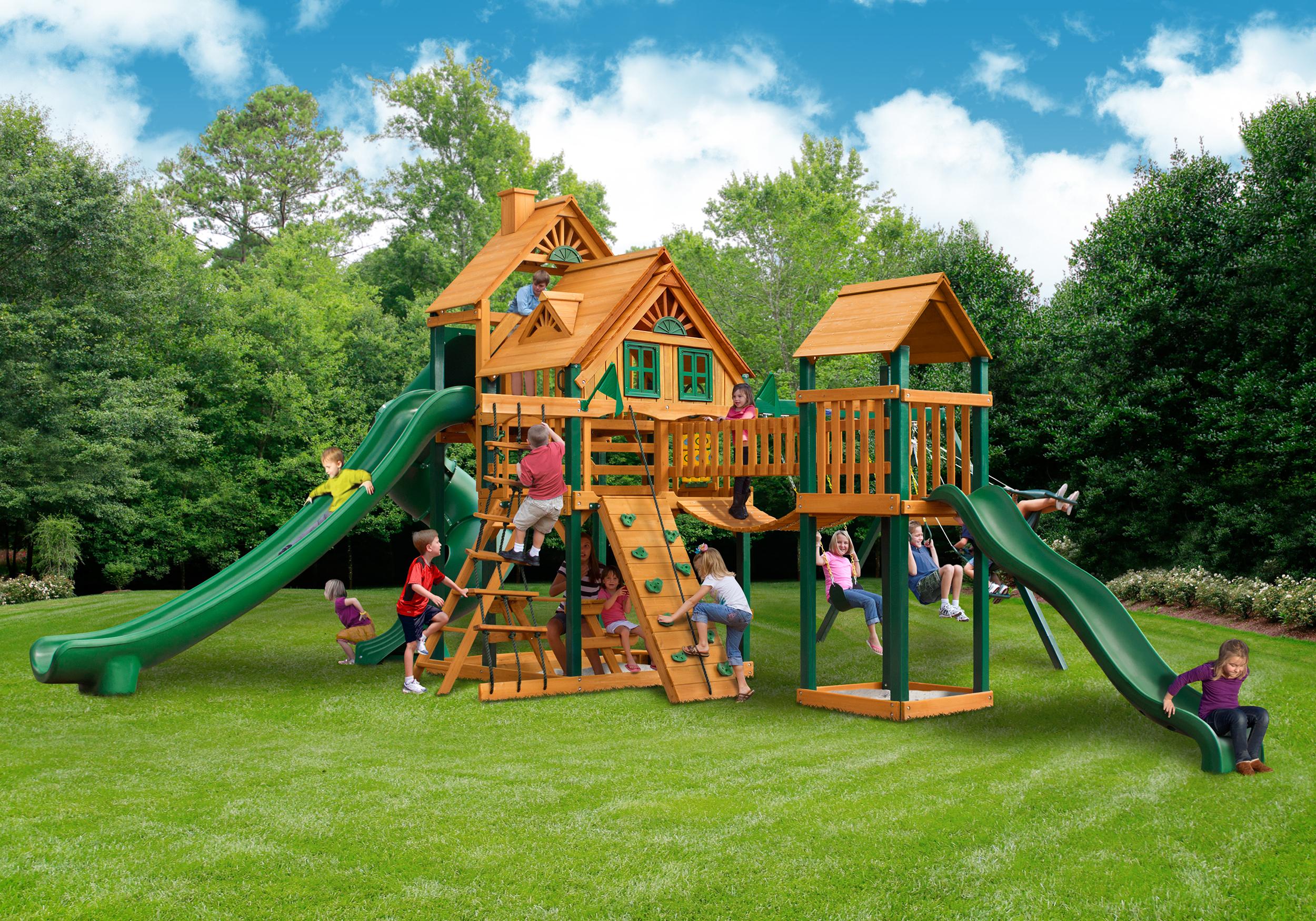 Playnation orlando fern park florida fl for Wooden swing set with bridge