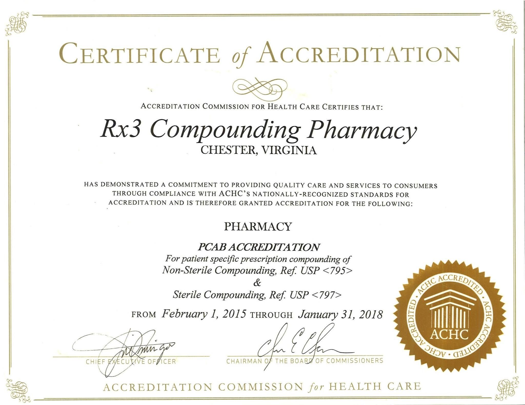 Rx3 Compounding Pharmacy In Chester Va 23831