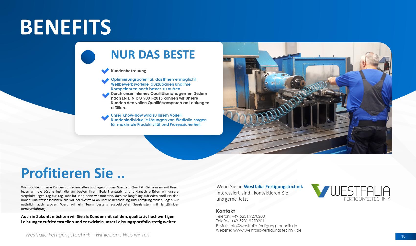 Foto de Westfalia-Fertigungstechnik GmbH Detmold