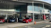 Cars outside the Vauxhall Hull West dealership