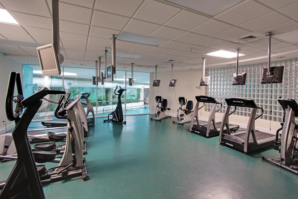 Every building at Caribe Resort has a modern spacious fitness center