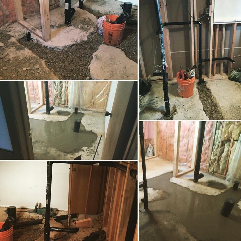 Hot Shots Plumbing & Heating Corporation in Winnipeg: Plumbing Ground Work - Drainage - Rough in