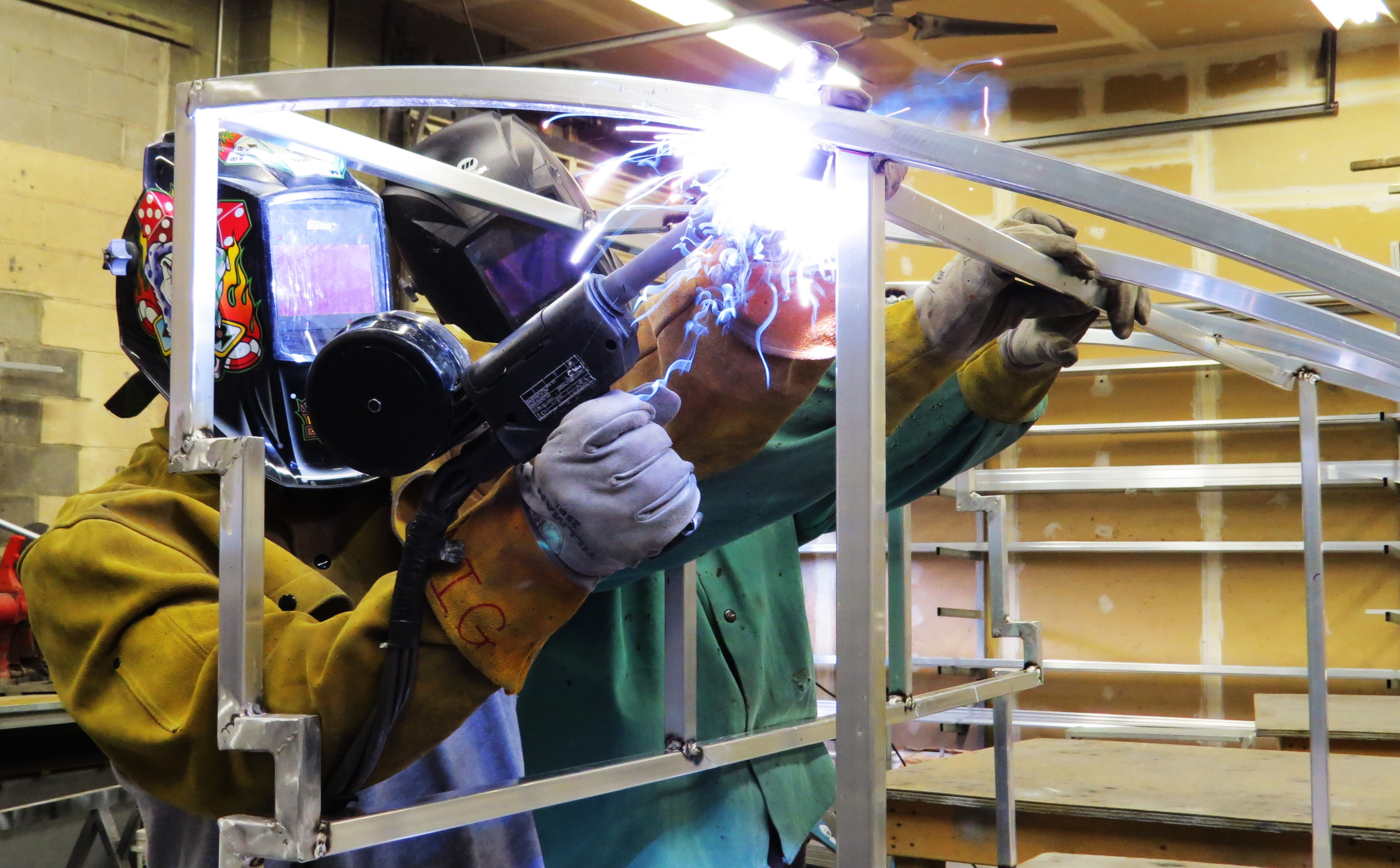 Certified Hoffman Awning  Welders Mig Heffington  and CJ Most awarded awning company, 2015 and 2016!