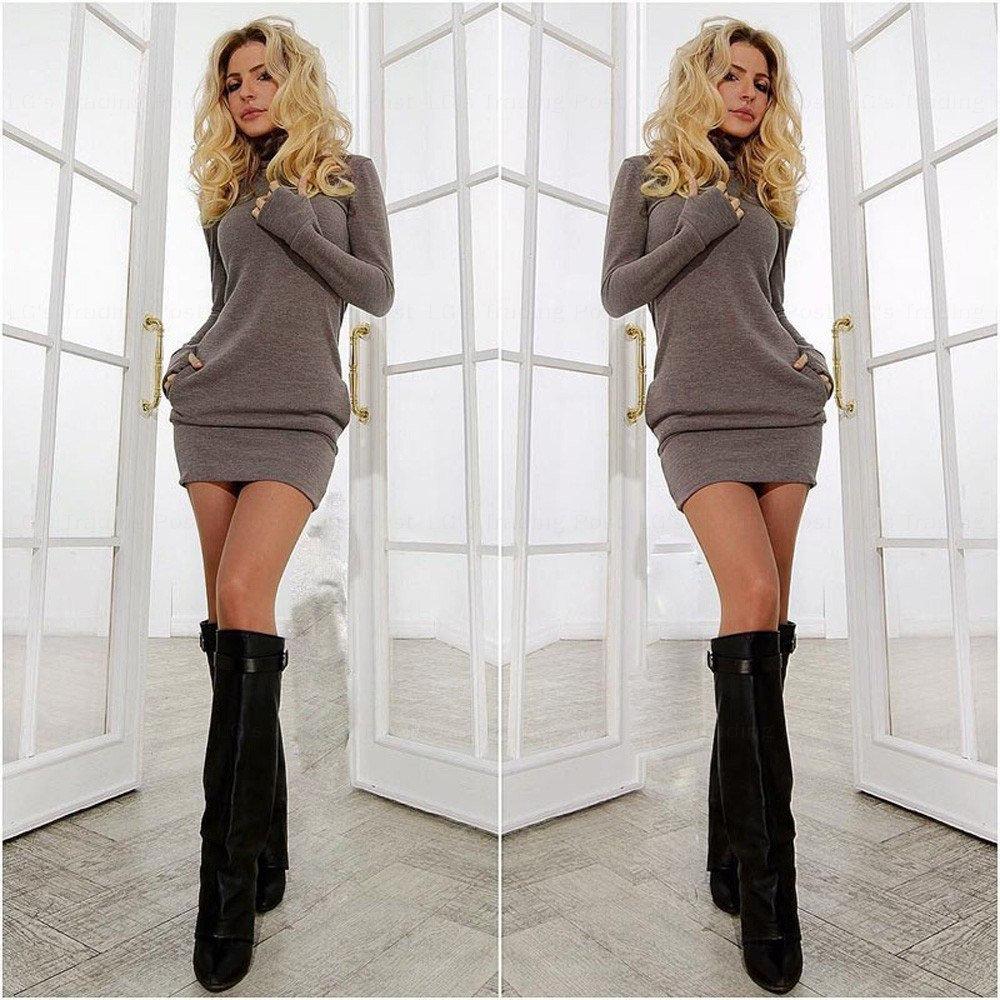 Long Sleeve Basic Mini Body Couture Dress