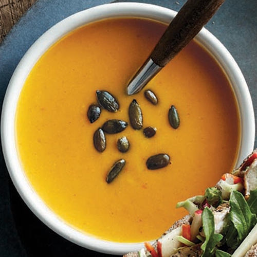 Try our seasonal favorite, Vegetarian Autumn Squash Soup.