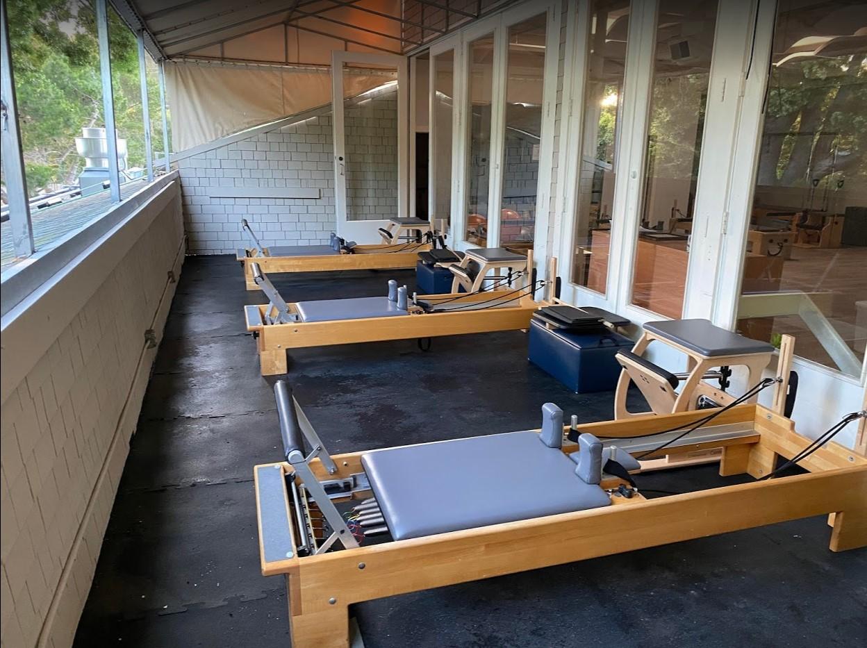 Outdoor Pilates studio space