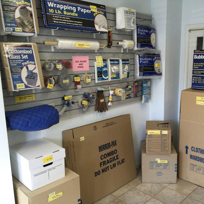 Available packing supplies
