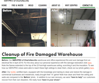 Charlottesville commercial fire damage cleanup and restoration