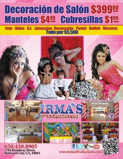 Irma's Productions - ad image