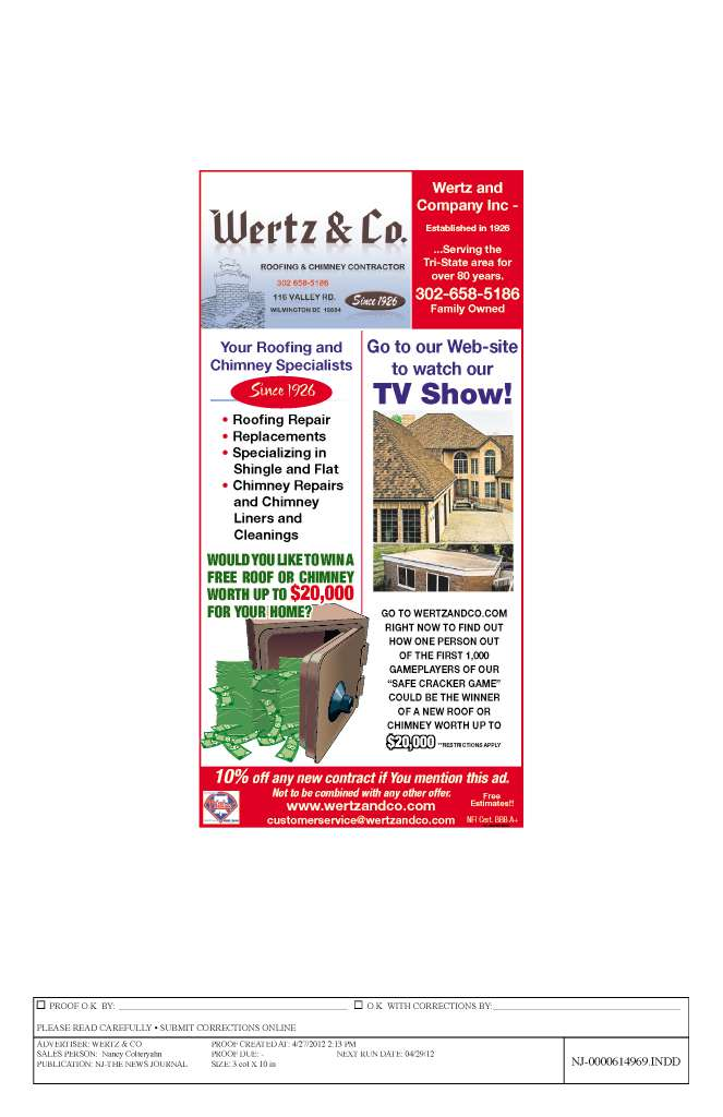 Wertz Amp Co Since 1926 Wilmington Delaware De