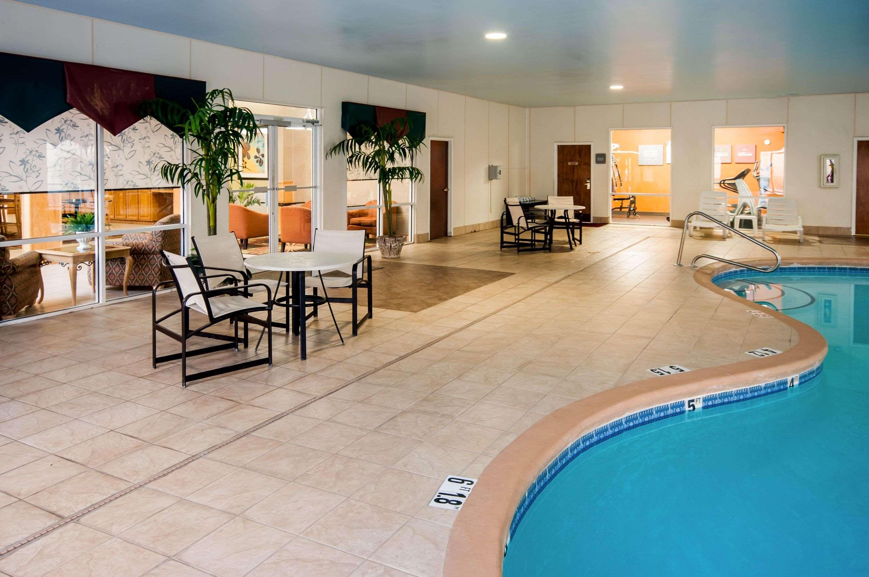 Indoor pool lounge area