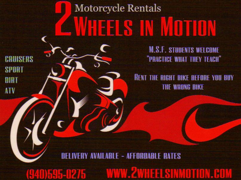 2 Wheels in Motion - Motorcycle Rental