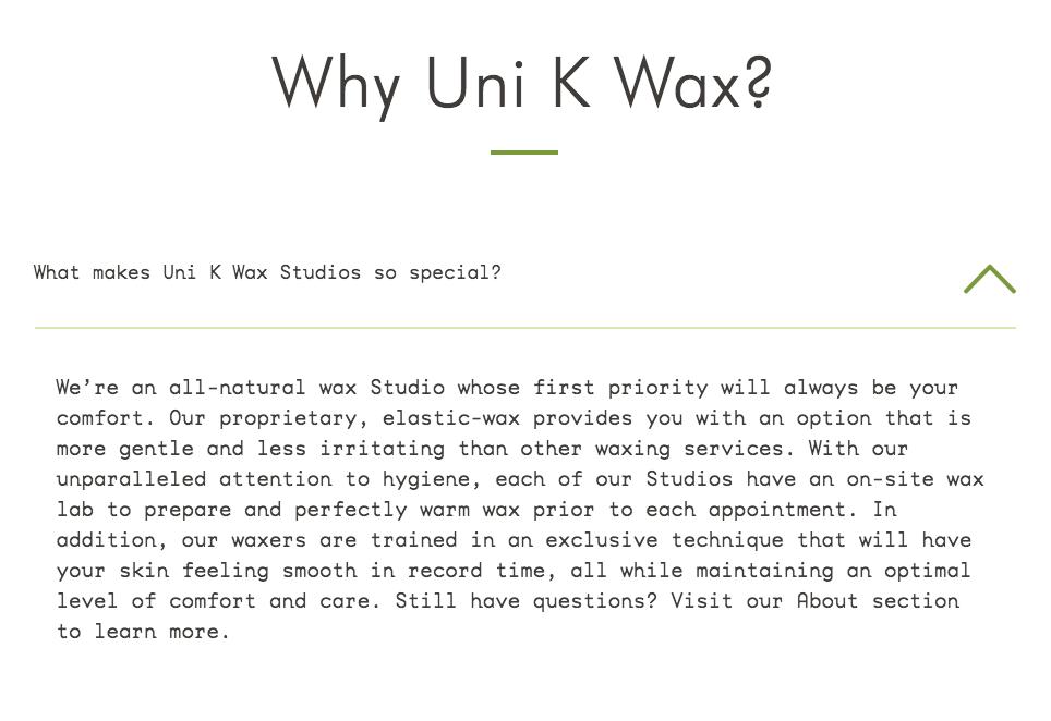 Uni k wax studio gainesville florida fl for Accent styling salon gainesville