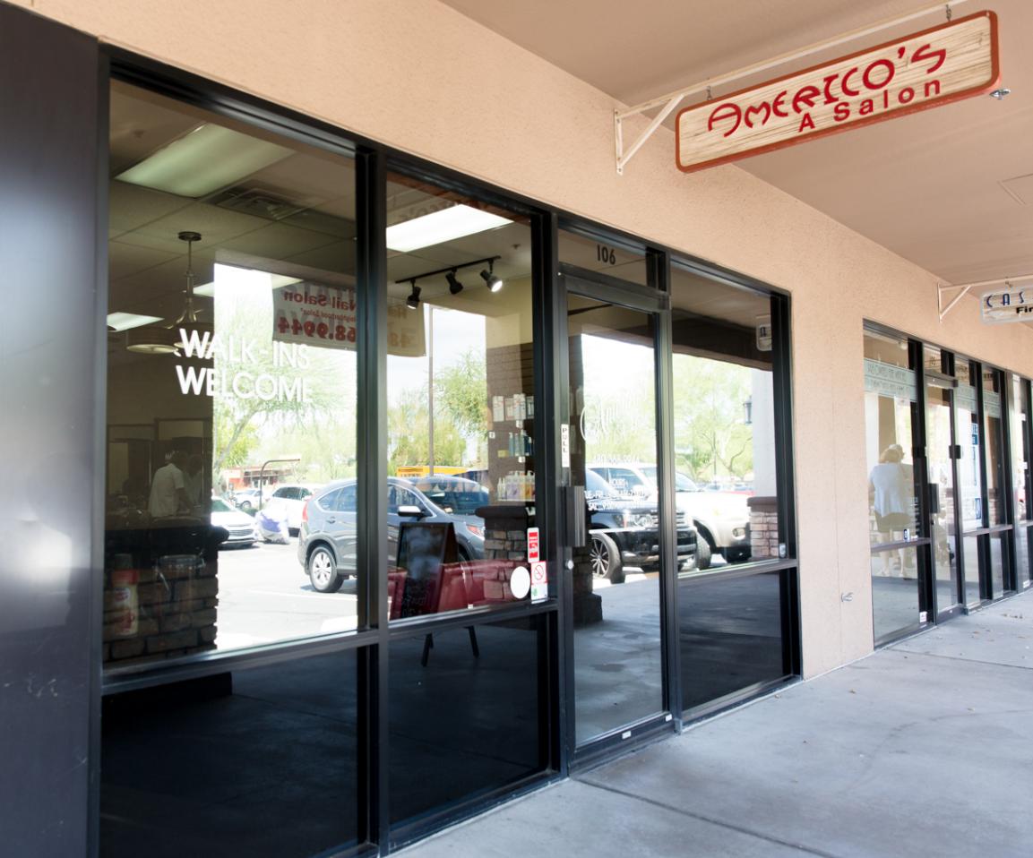Our storefront Americo's Hair Salon Scottsdale (480)368-9944